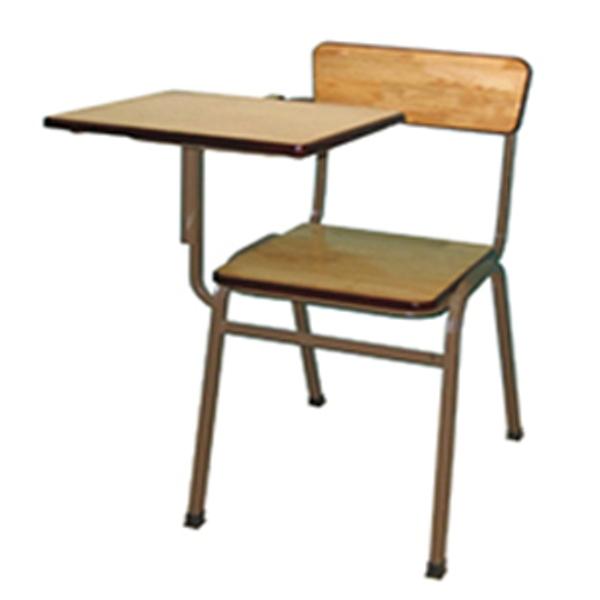 Ghế cá nhân có bàn viết chân sắt mặt gỗ SU-08