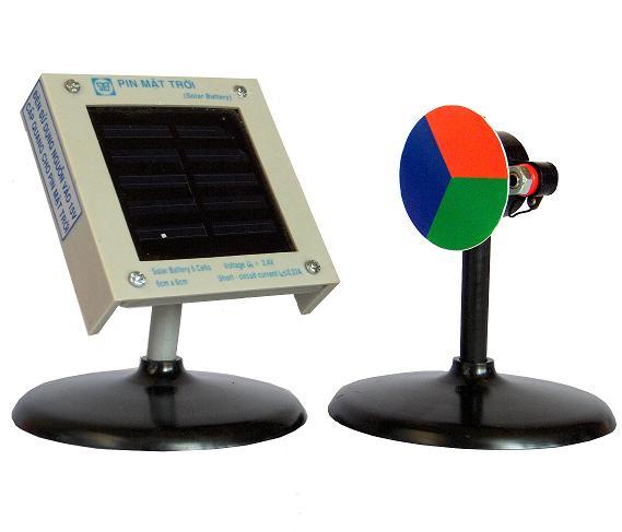 Bộ thí nghiệm chạy động cơ nhỏ bằng pin mặt trời MS112