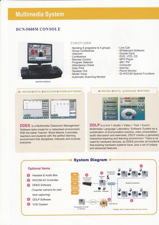 Phòng lab ngoại ngữ đa năng Wicom Multimedia Hàn Quốc
